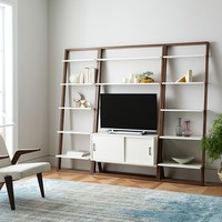 Ladder Shelf Media Console + Shelves Set - Wide