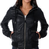 Empyre Girl Highland Black Hooded Bomber Jacket at Zumiez : PDP