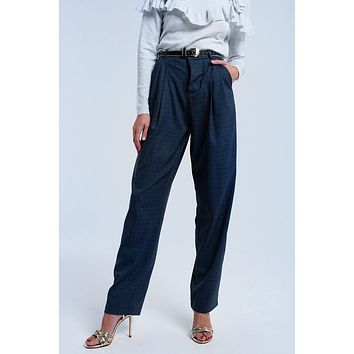 Grey Pleated Trouser