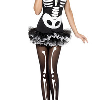 Skeleton Printed Halloween Costume