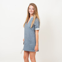 BCBGeneration - Suede Geometric Cutout Dress