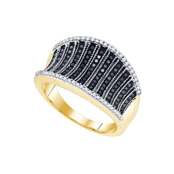 1-2Carat-Diamond MICRO-PAVE BLACK RING