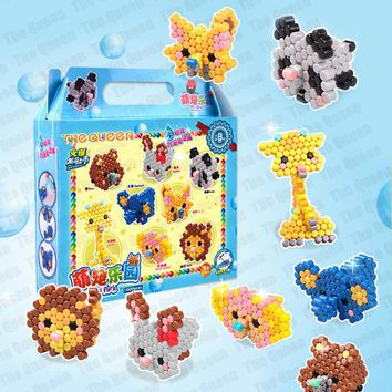 Magic Water Aqua Beads Toys Perler Hama Fuse Beads Pegboard Set Jigsaw Puzzle Water Beadbond Educational Toys Diy Craft for Kid