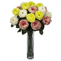 Fancy Rose Silk Flower Arrangement
