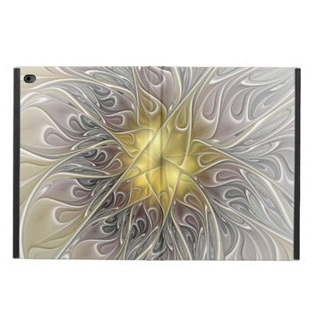 Flourish With Gold Modern Abstract Fractal Flower Powis iPad Air 2 Case