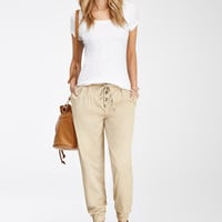 Buttoned Drawstring Joggers