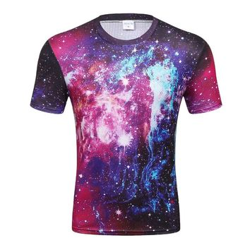 Galaxy Space Celestial Outer Space Stars Cosmic All-Over-Print T-Shirt