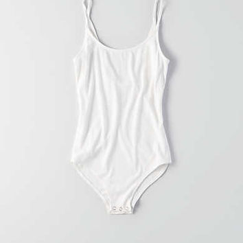 AEO Soft & Sexy Ribbed Bodysuit , Natural White