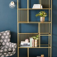 Irregular Brass Bookshelf