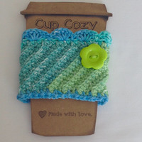 Crochet cup cozy, handmade cup sleeve, crochet travel sleeve, cup cozy