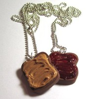 Peanut Butter And Jelly Bestfriend Necklaces by adcdmc on Etsy