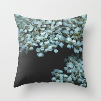 Botanical Still Life Photography Tiny Flowers Throw Pillow by ARTbyJWP