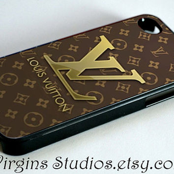 Louis Vuitton Brown Design For iPhone 4/4s/5/5s/5c Case and Samsung Galaxy S3 i9300/S4 i9500 Case.