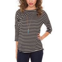 Linda Oversized Stripe Top