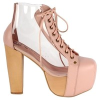 Jeffrey Campbell Cleata Nude Boots 32% off retail