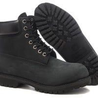 Timberland Black 6 inch  Boots