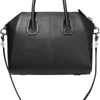 Givenchy - Small Antigona bag in black textured-leather
