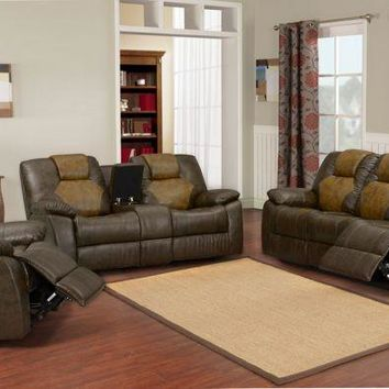Two - Tone Leather Living Room Set