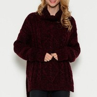 Rocky Burgundy Sweater - FINAL SALE