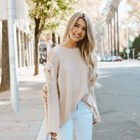 Lia Long Sleeve Bow Tie Sweater
