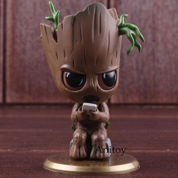 Cosbaby Marvel Avengers 3 Infinity War Baby Tree Man Bobble Head Figure Action PVC Collectible Model Toys for Boys Gifts