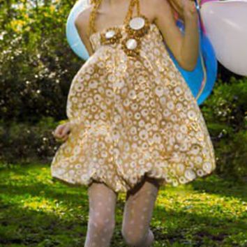 HONEY is a  Bubble Flowergirl dress, very playful, so many options, birthday dress, easter dress
