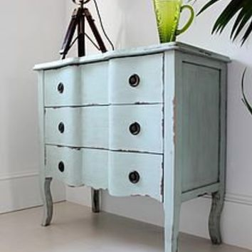 valentina sage green french chest by out there interiors | notonthehighstreet.com