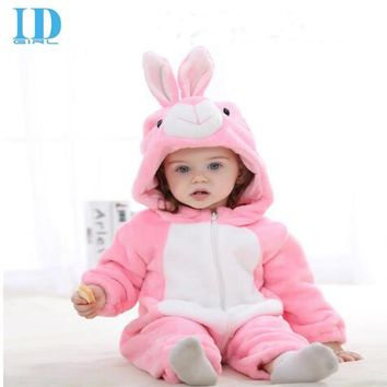 2016 Infant Romper Baby Boys Girls Jumpsuit New born Bebe Clothing Hooded Toddler Baby Clothes Cute Rabbit Romper Baby Costumes