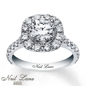 Neil Lane Engagement Ring 2 3/4 ct tw Diamonds 14K White Gold