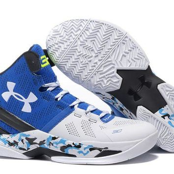 Jacklish Under Armour Curry 2 Camo White Blue Black For Sale