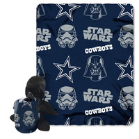 Dallas Cowboys NFL Star Wars Darth Vader Hugger & Fleece Blanket Throw Set