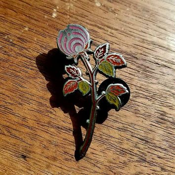 AE10 of The Pink Autumn Rosebud Nectar Flower Bassnectar Hat Pin