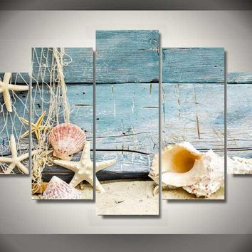 Nautical Collection 5-Piece Wall Art Canvas