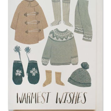 snow clothes card