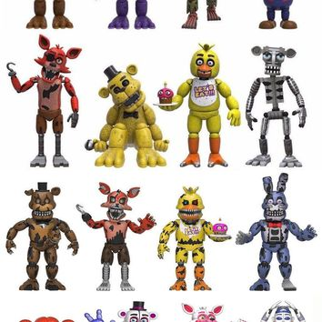 "Set Of 16 Five Nights At Freddy's 2"" MINI Figure Foxy,Bonnie,Nightmare,Sister"
