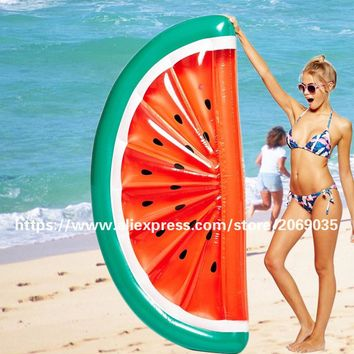 180*90cm Inflatable Half Watermelon Floats Swimming Pool Float Beach Water Fun Toy Blowup Fruit Floatie Air Mattress Lounger