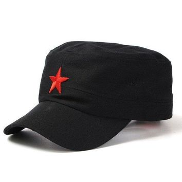 Adjustable Cotton Five-Pointed Star Military Hat