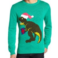 Alex Stevens Men's Santasaurus Rex, Jade, X-Large