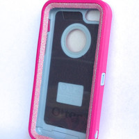 OtterBox Defender Series Case iPhone 5c Glitter Cute Sparkly Bling Defender Series Custom Case Pink / Pink