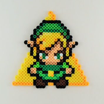 Triforce Link Zelda Perler Ornament/Magnet