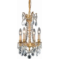 "Rosalia 13"" D Chandelier, French Gold Finish, Clear Crystal, Elegant Cut"