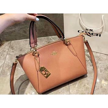Coach selling a single-shoulder bag of pure color for women Brown