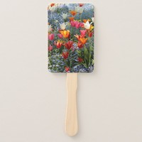 Gorgeous Colored Tulips Hand Fan