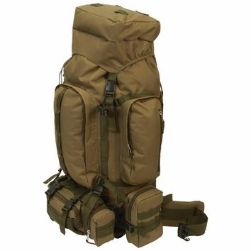 Water-Resistant, Heavy-Duty Mountaineer's Backpack