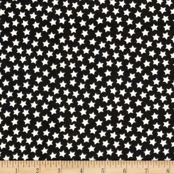Flannel Stars Black/Glow in The Dark Stars