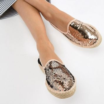 South Beach Sequin Espadrilles at asos.com