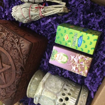 Wiccan/Pagan/Goddess Mystery Box of Goodies! Treat yo self to a magical surprise!