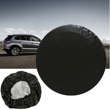 32 Inch For Jeep for Wrangler Spare Wheel Tire Tyre Case Cover Protector Sun Shade Dust-Proof Wheel Accessories Black