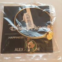 Disney Alex and Ani Parks Mickey Santa Holiday Bangle Bracelet Gold New Tags