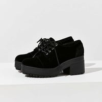 Sadie Velvet Bubble Toe Oxford | Urban Outfitters